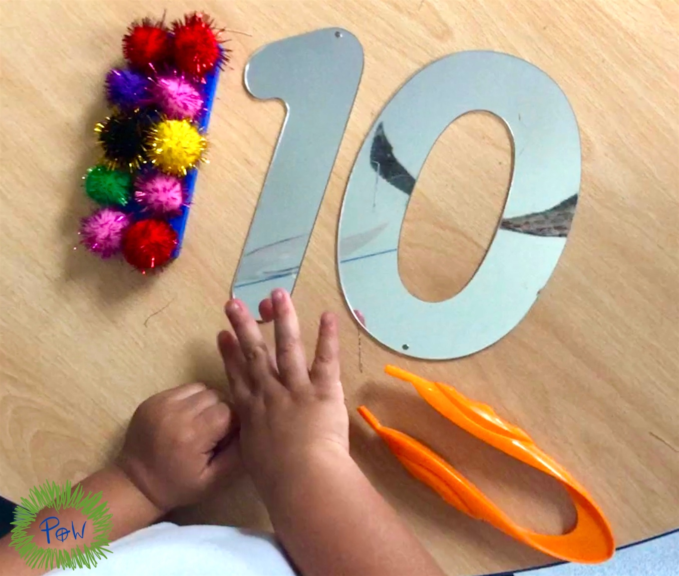 Learning numbers with subitizing numicon activity