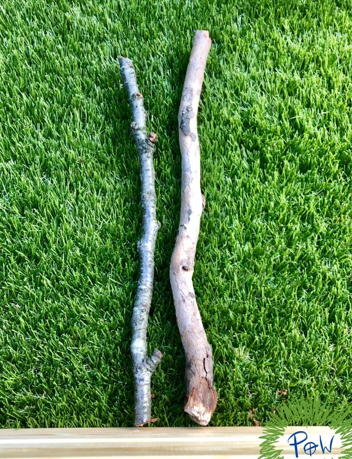 comparing longest and shortest -length of sticks